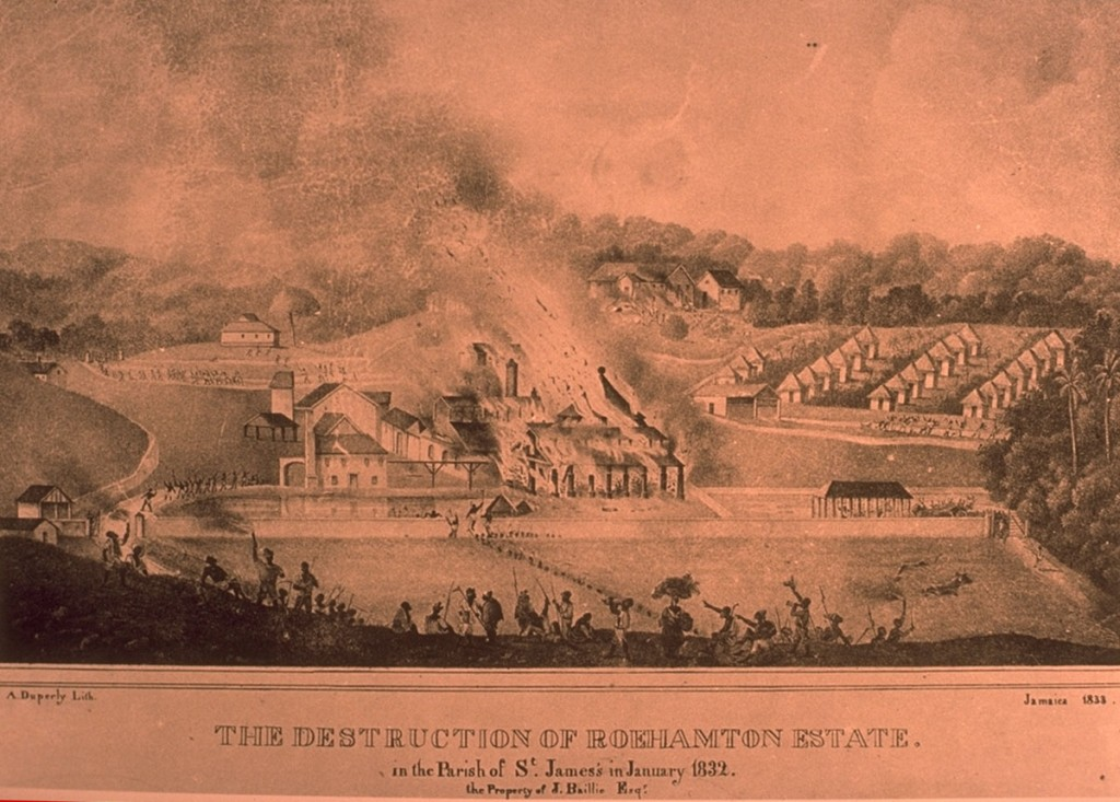 """The Destruction of Roehamton Estate in the Parish of St. James in January 1832."""