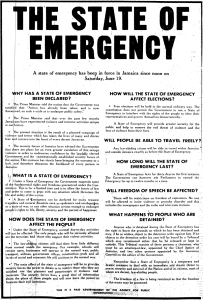 5 Declarations of States of Emergency in Jamaica's History