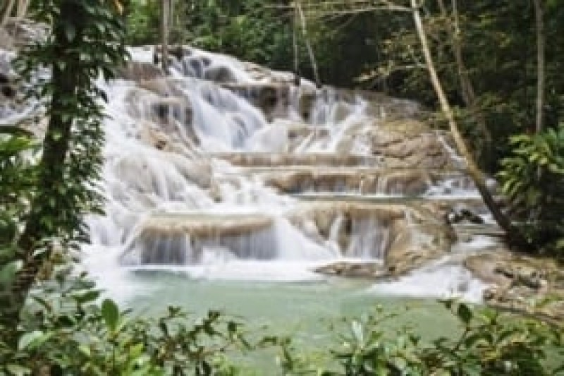 Famous Dunns River falls