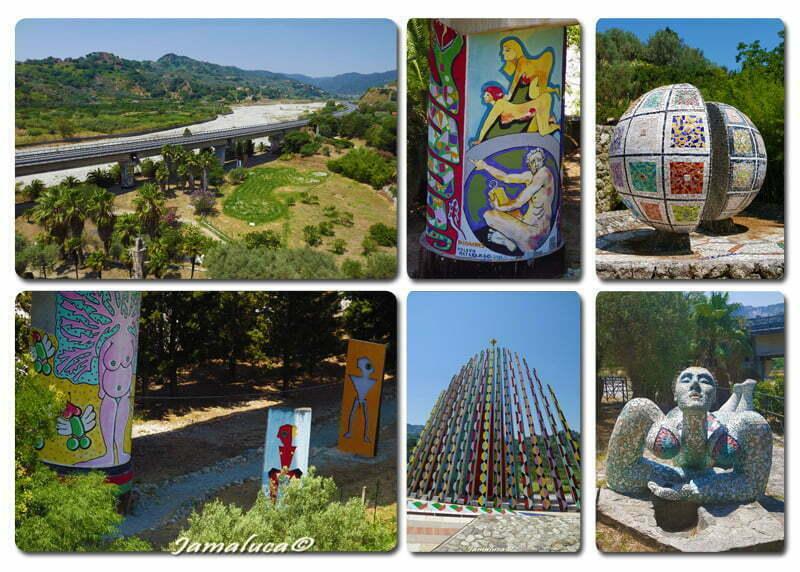 Musaba - Vista panoramica sull'Aspromonte e Opere Site Specific