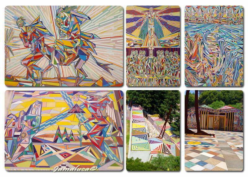 Musaba Mosaico Monumentale in progress nel chiostro della foresteria