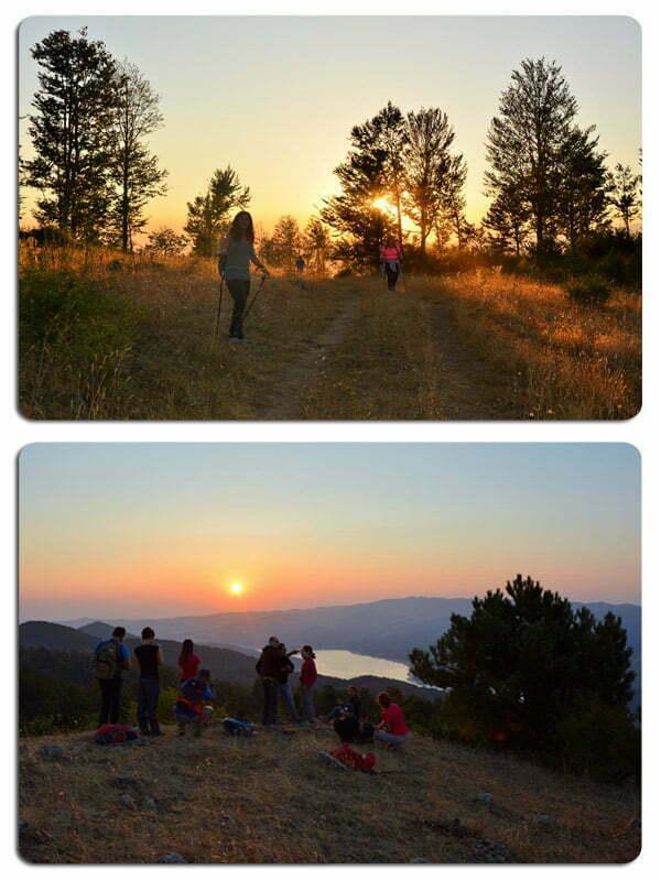 attività outdoor in Sila trekking al tramonto