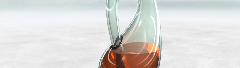 Klein Bottle with Liquid - Industrial Design Visualisation Image