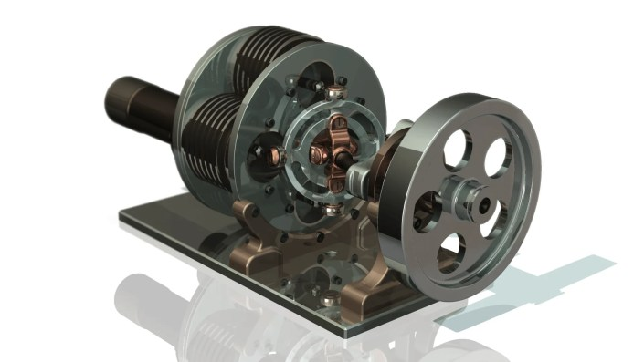 Stirling Engine - Engineering CAD Modelling Video Image CAD Design