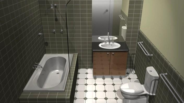 Bathroom Rendering - CAD Modelling
