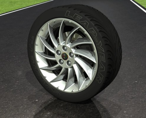 Alloy Wheel & Tyre - Automotive Images