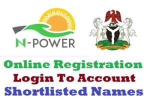 Npower Portal 2019/2020 Registration Form - www.npower.gov.ng login | www.npower-gov.com.ng