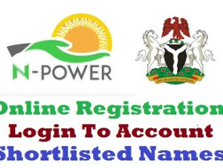Npower Portal 2019/2020 Registration Form - www.npower.gov.ng login | www.npower-gov.com.ng