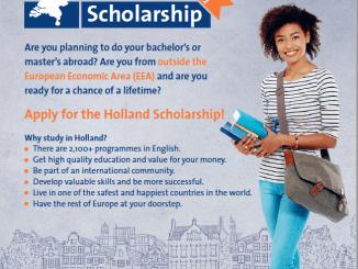 Holland Scholarships For International Students 2019/2020 Full-Time Bachelor's or Master's Programme