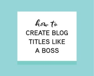 How To Create A Unique Blog Name And Post