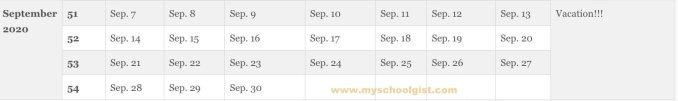 FUNAI Academic Calendar