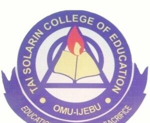 TASCE Matriculation Ceremony Schedule for Newly Admitted NCE / Degree Students 2019/2020 Session