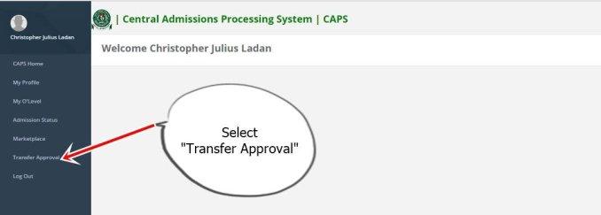 jamb transfer approval