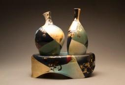 2 Vases w/ Pedestal (alternate view)