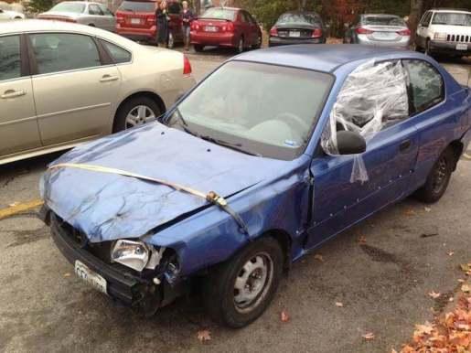 beat up car
