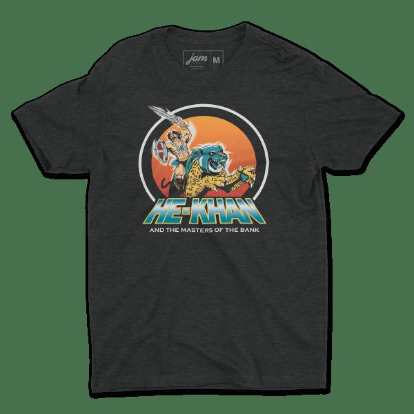 He-Khan! Vintage Black T-Shirt