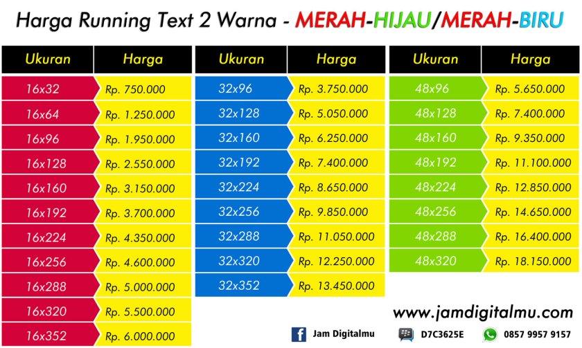 Harga Running Text Merah Hijau Biru