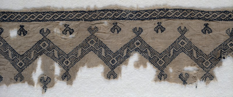 Islamic embroidery fragment EA1984.168 at the Ashmolean Museum