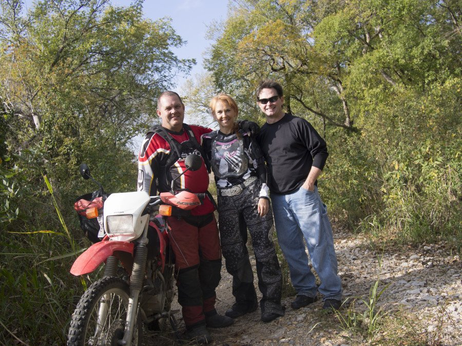 Kay and I were riding our dirt bikes on some jaunt in southern Logan County and ranc across Kay's brother Rick Blankenship.