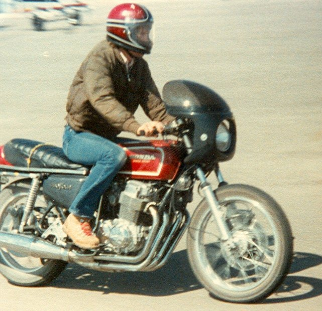 This was my second motorcycle - a Honda CB-750 Supersport. This is when I transitioned from a chopper style to sport style of riding and loved it much better than feet forward riding.