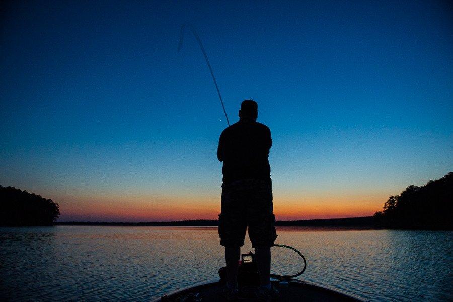 Bass Fishing at McGee Creek in Oklahoma