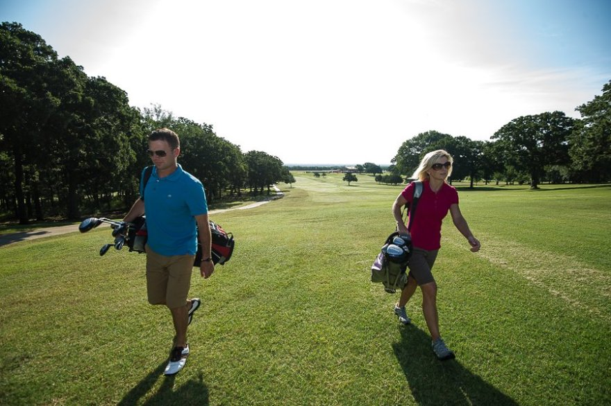 Some golfers choose to walk the Lake Murray State Park Golf Course for exercise.
