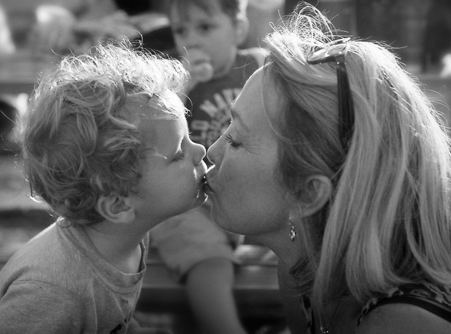 My wife Kay Pratt and grandson Charlie Pratt at a softball game in Yukon