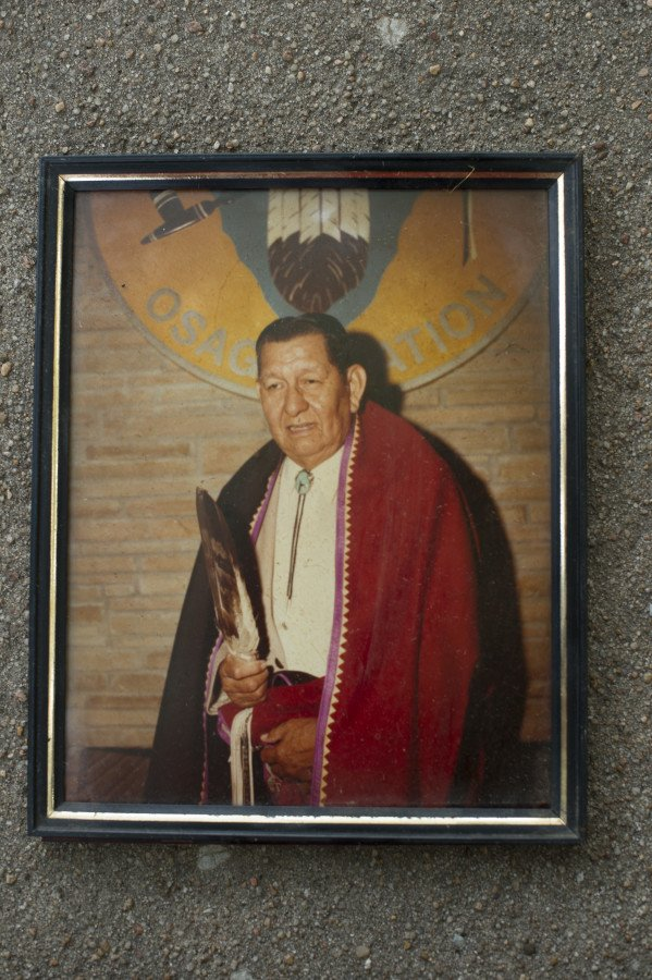 Eddy Red Eagle's father was active in the Osage Nation and culture.