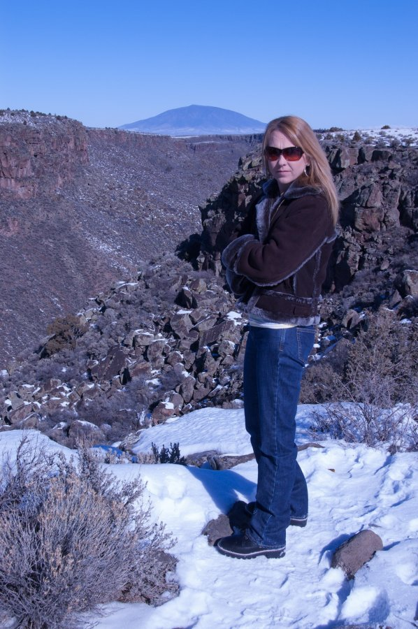 We stopped by the Rio Grande River gorge on the way home and did a bit of exploring.