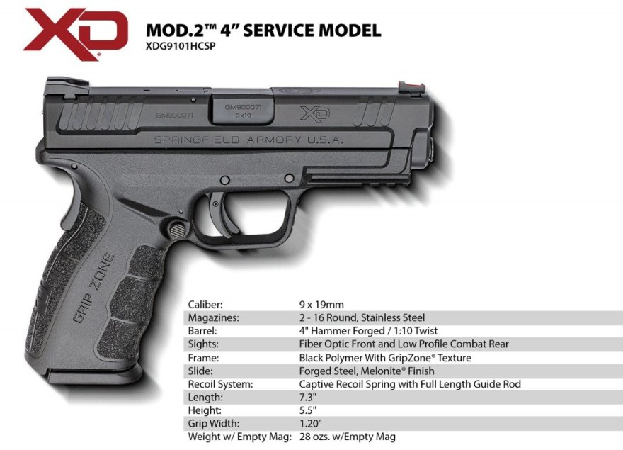 """An answer to my training needs. Springfield came out with a Glock 19 sized XD Mod 2. The 4"""" barrel makes it much easier to hit far away steel targets, yet functions and handles and feels exactly  like my 3"""" gun. So I can train and compete with the 4"""" model, and that training carries right over to my daily carry pistol. Me likes very much!!"""