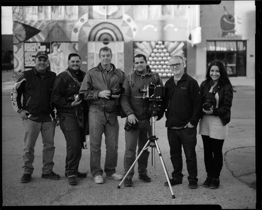 I shot this photo while on a photo walk with a few of my fellow Oklahoma Film Photographers. I set up the photo and had a passerby trigger the shutter after I ran to get into the shot.