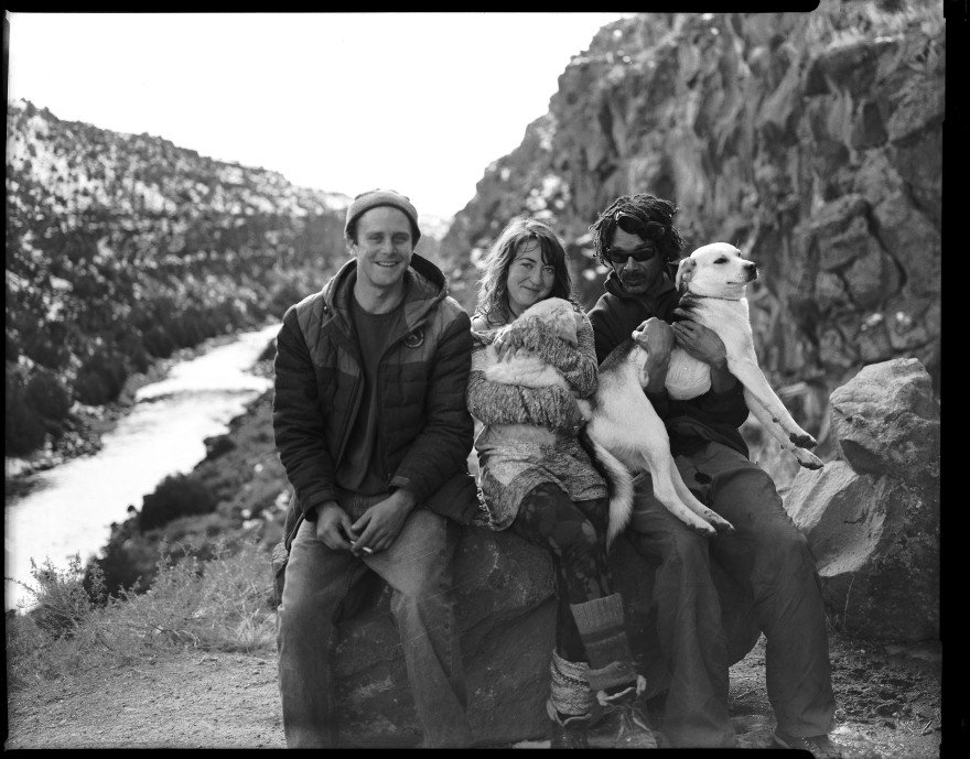 I was shooting my Toyo VX-125 film camera along the Rio Grande River in New Mexico when these folks approached and asked if I would mind taking their picture with my camera. SURE!