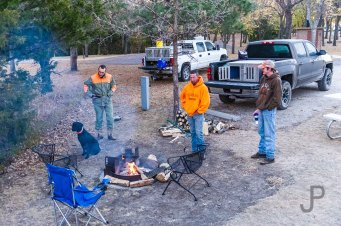 We start off each morning by cooking breakfast over the campfire and hang around camp until time to go scouting for birds.
