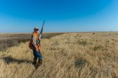 Cory Stokes looks back at our group as we head out for the third day of our hunt.