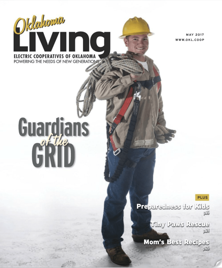 May 2017 Cover Oklahoma Living - Guardians of the Grid