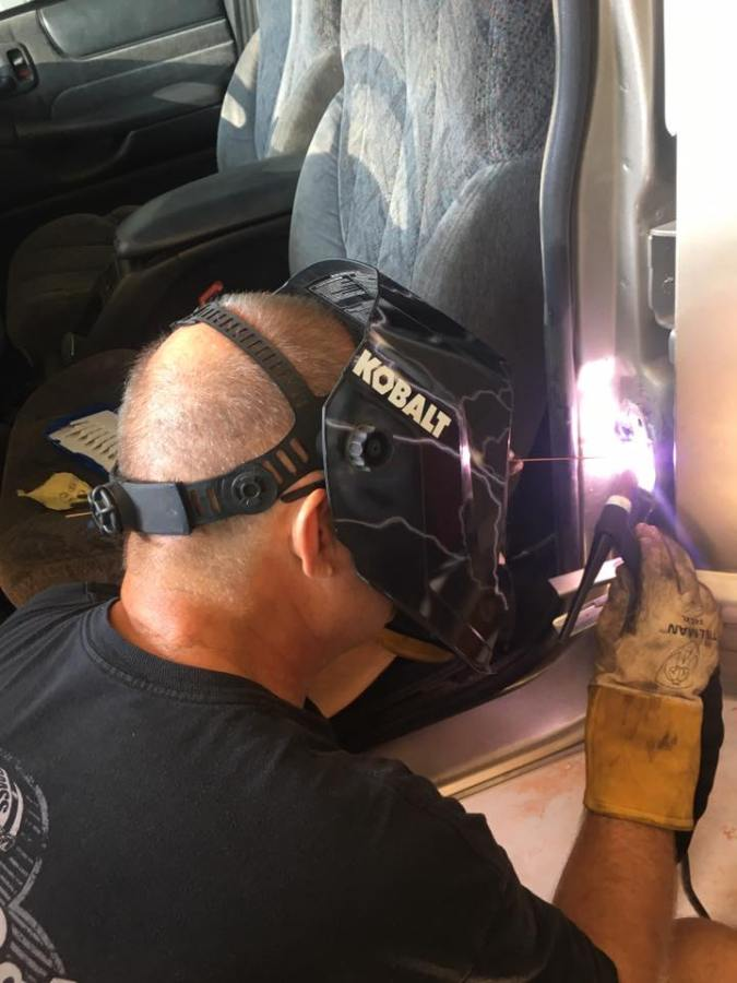 Welding with a Lincoln Square Wave TIG-200 welder