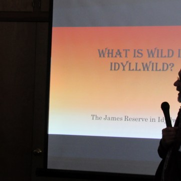 Assistant Director Laundré presenting at the Idyllwild Garden Club