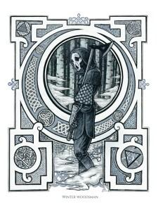jac james adam cartwright celtic fantasy art winter woodsman