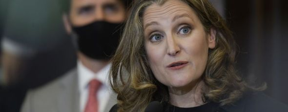 Chrystia Freeland Justin Trudeau Bloomberg | James Alexander Michie