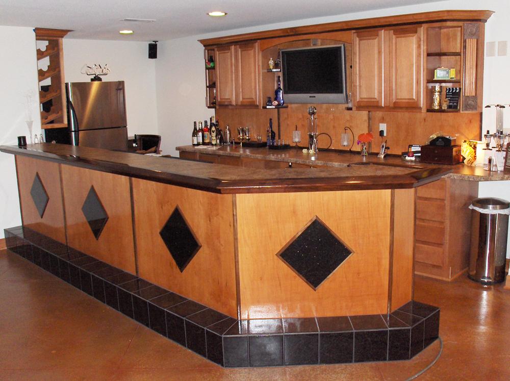 Custom Millwork Rec Room | James Allen Builders | Wisconsin