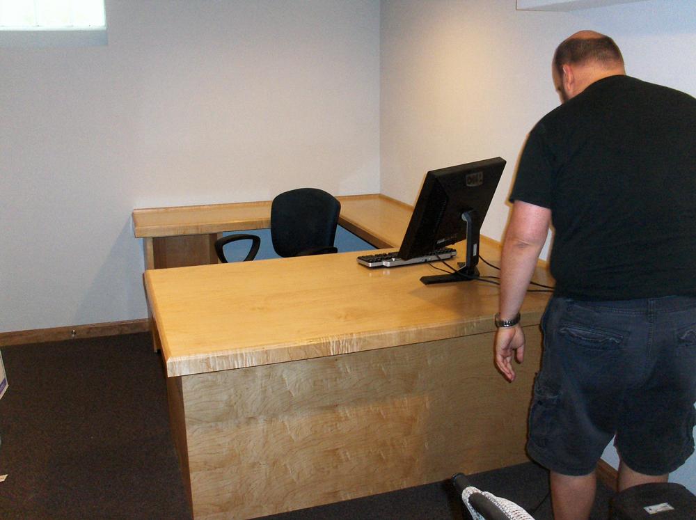 Custom Millwork Desk   Home Office   James Allen Builders
