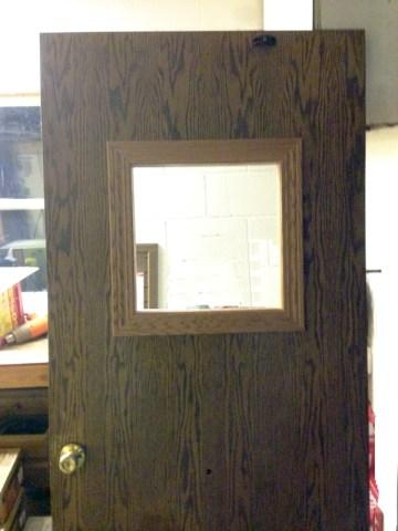 Office Door With New Window | Experienced Contractor | James Allen Builders