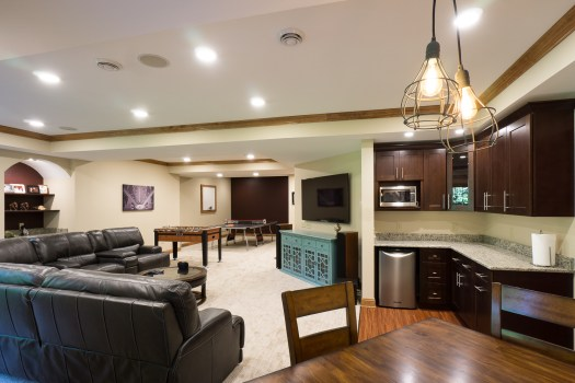 AFTER Custom Basement Remodel, Mequon, WI