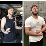 Man's before and after the gym challenge