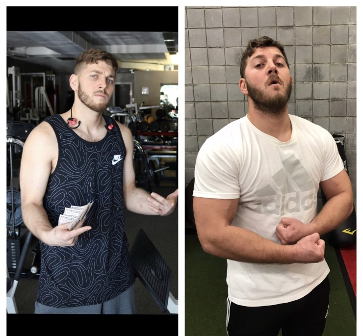 Cody's muscle building transformations