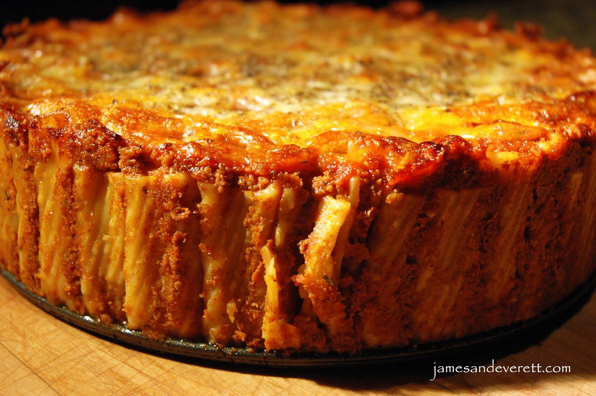 Standing Pasta Pie Torta Di Rigatoni James Amp Everett