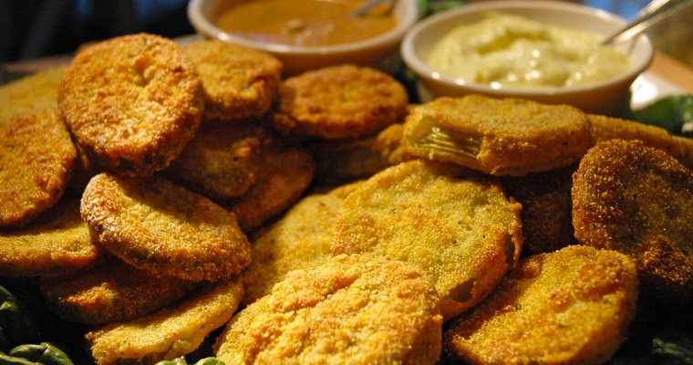 Fried Green Tomatoes & Dill Pickles
