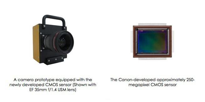 Canon 250 megapixel sensor