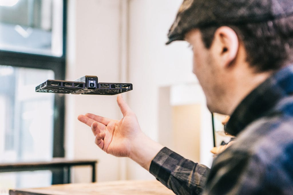 Hover Camera released from hand