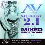 """AVnightclub Hollywood Saturdays 2014 February 1 flyer 615x615"""